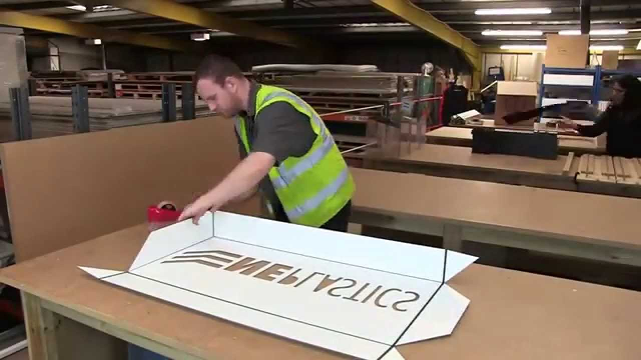 Illuminated Sign Tray Fabrication Youtube