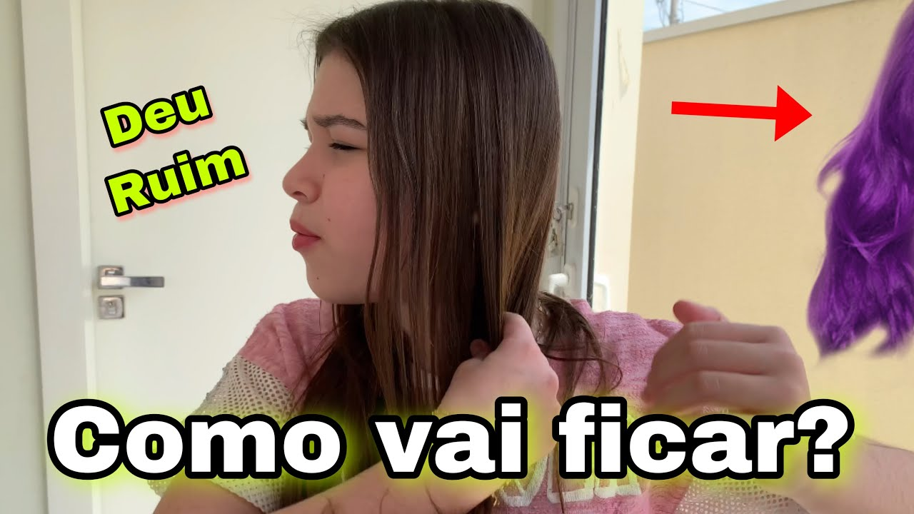 Download PINTEI O CABELO DA MARIA EDUARDA EM CASA - QUAL É A COR?