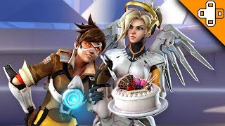 Mercy Brings CAKE! (not a lie) Overwatch Funny & Epic Moments 738
