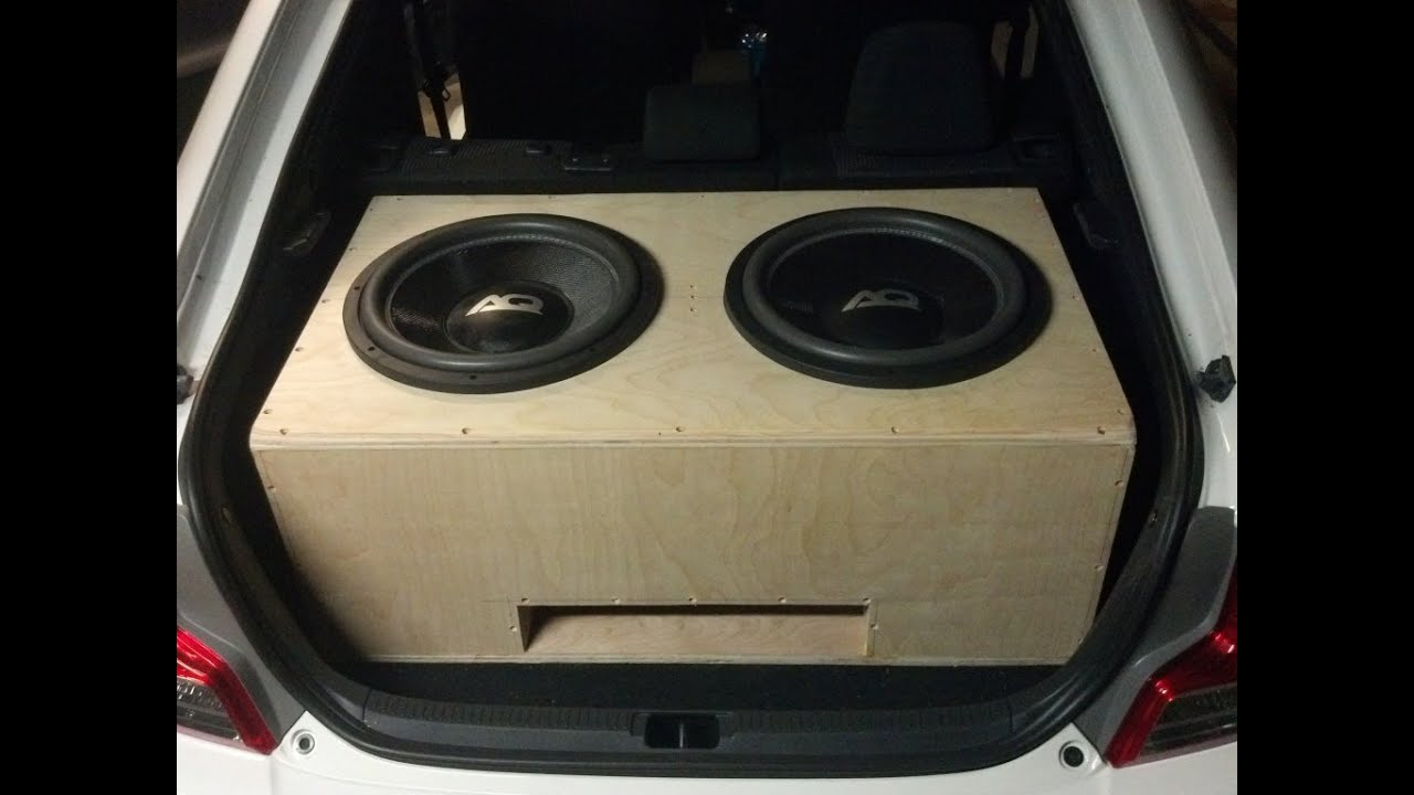 How To Build A Sub Box >> 2 AudioQue 15s Time lapse Box Build Scion TC - YouTube