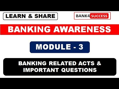 Banking Awareness : Banking Related Acts and Important Sections Asked In Exam
