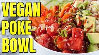 Easy Vegan Tuna / Vegan Sushi Bowl Recipe / Watermelon Tuna