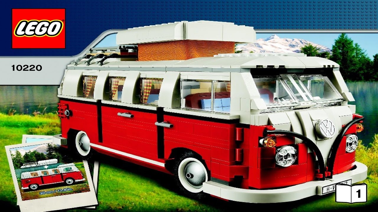10220 LEGO Volkswagen T1 Camper Van Creator Expert (Instruction booklet) - YouTube