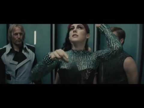 The hunger games catching fire elevator scene ft Johanna ...
