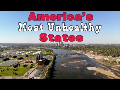The 10 UNHEALTHIEST STATES In AMERICA