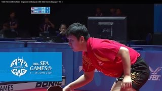 Table Tennis Men's Team Singapore vs Malaysia Match 3 | 28th SEA Games Singapore 2015