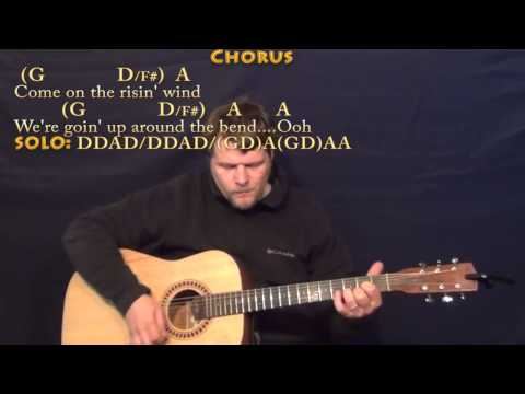 Up Around the Bend (CCR) Strum Guitar Cover Lesson with Lyrics/Chords