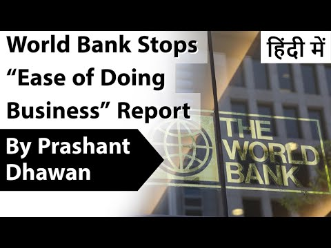 "World Bank Stops ""Ease of Doing Business"" Report Impact on I"