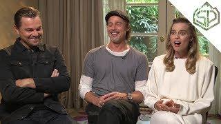 Интервью с Леонардо Ди Каприо, Брэдом Питтом и Марго Робби | Однажды в Голливуде
