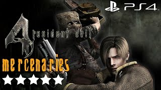 Resident Evil 4 (PS4) - Mercenaries Gameplay Walkthrough 5 Stars All Stages (All Characters)