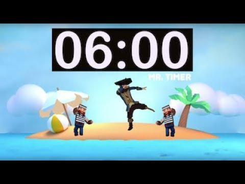 6 Minute Timer with Music! Timer for Kids, Kindergarten, Preschool, Classroom, Exercise, Homework!