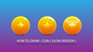 Adobe illustrator tutorial HOW TO DRAW COIN LONG VERSION