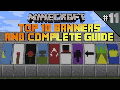 Minecraft top 10 banner designs! Ep 11 With tutorial!