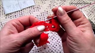 Школа вязания.Роза крючком-видео для начинающих. Цветок 3(Научиться вязать совсем не сложно. Подписывайтесь на канал и получайте уроки по вязанию! Здесь первая роза..., 2015-03-22T08:24:00.000Z)