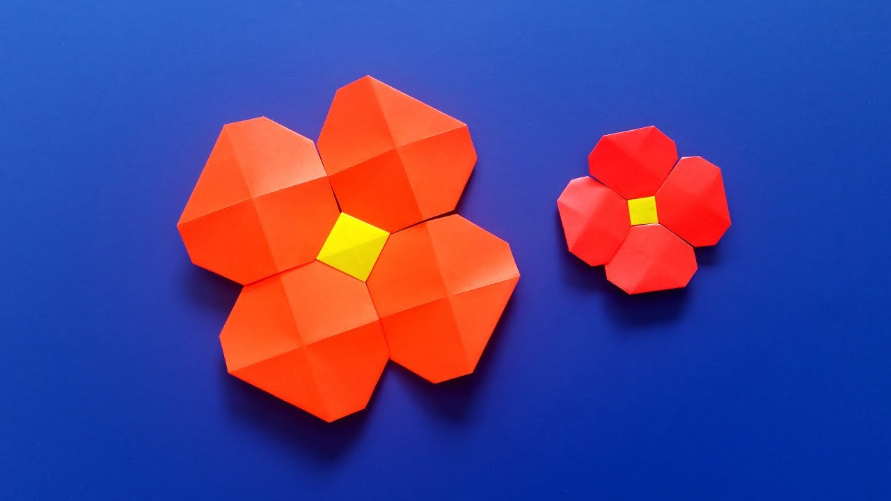Very Easy Origami Flower With Origami Pixels Paper Crafts And Diy