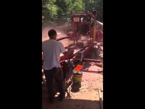 Tony Galloway and his Cook AC36 hydraulic mill