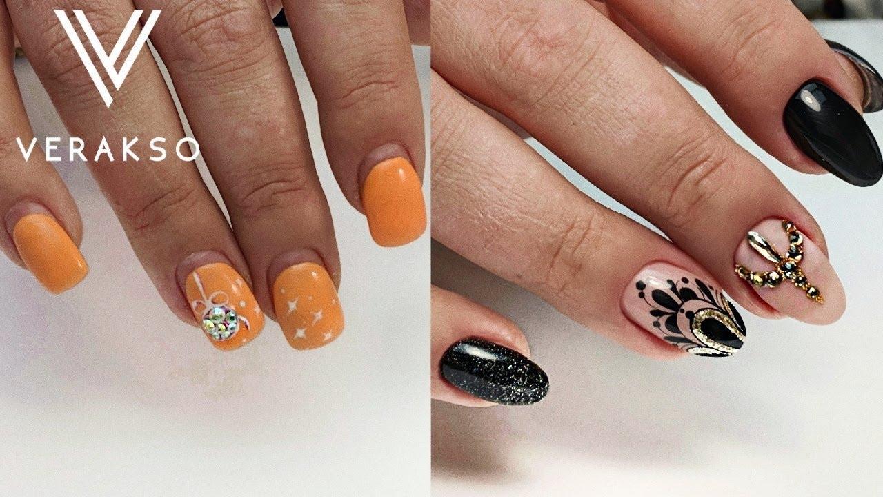 До и после. Меняем форму ногтей. Коррекция гелем. Дизайн ногтей 25