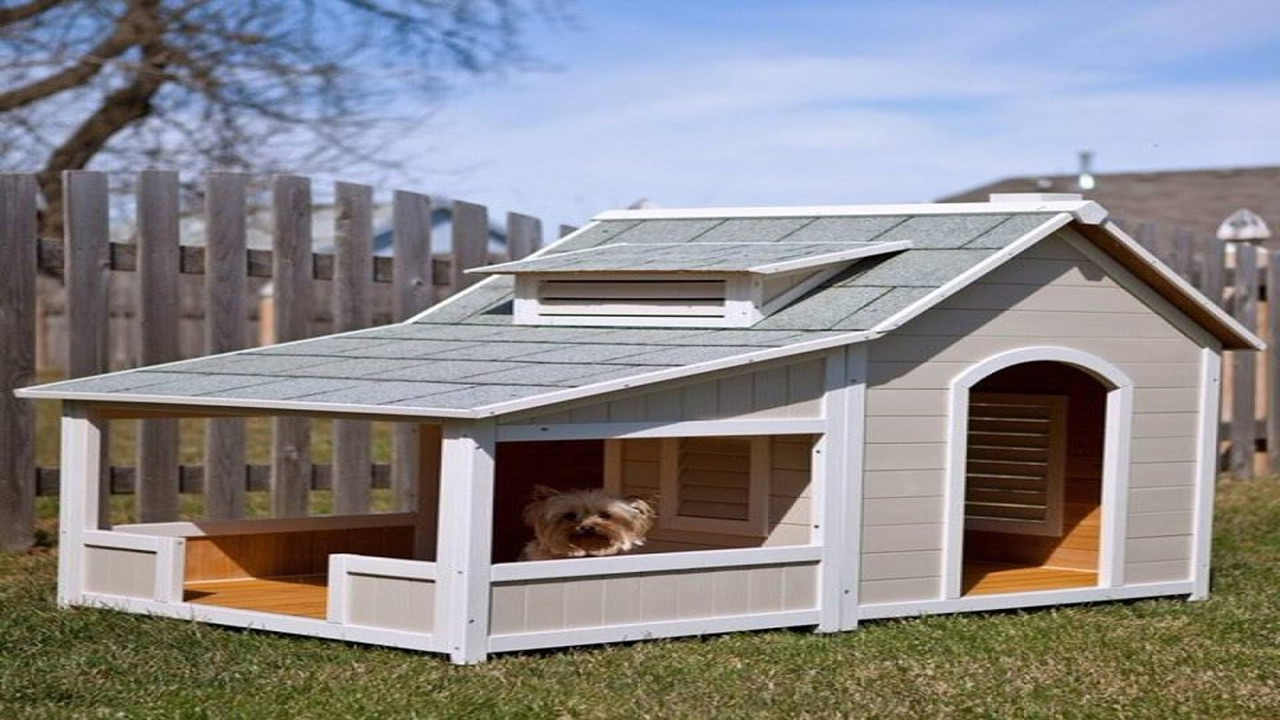 Dog houses with free plans you need it full modern plans diy malvernweather Image collections