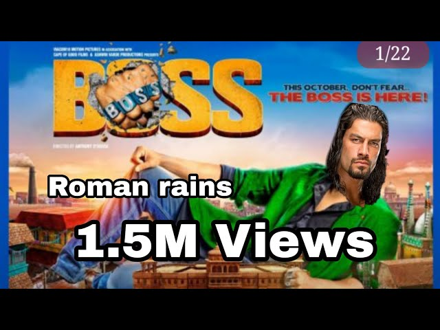 BOSS Teaser Trailer | feat ROMAN REIGNS |Video Thakor Kiran (TK)