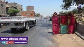 'صدى البلد' يرصد كوارث طريق مصر الإسكندرية الزراعي ..وأعمدة الكهرباء تعرض المواطنين للخطر