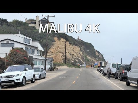 Malibu 4K - Billionaire's Beach - Driving Downtown USA
