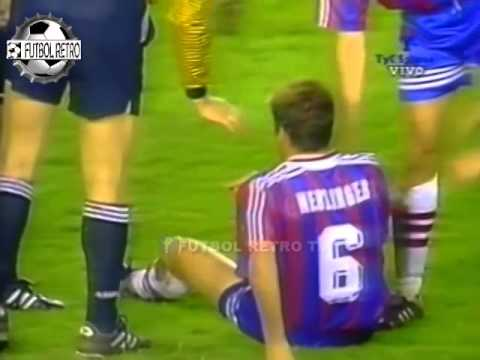 Valencia 3 vs Bayern Munich 0 Copa UEFA 1996 Claudio Lopez, Lothar Matthaus