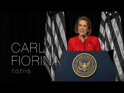A Reagan Forum with Carly Fiorina — 7/27/15
