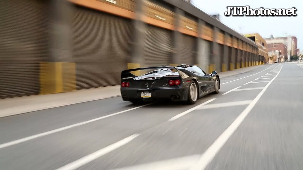 Ferrari f50 hard launch and flyby in nyc youtube vanachro Image collections