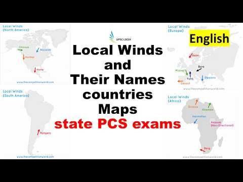 Local Winds and their names