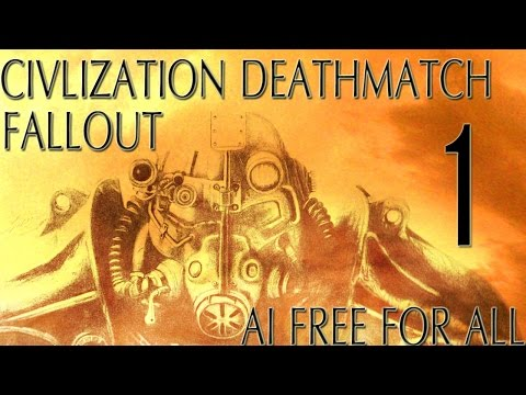 """Civ 5: Fallout AI Only Free For All Deathmatch #1 """"The House Always Wins"""""""