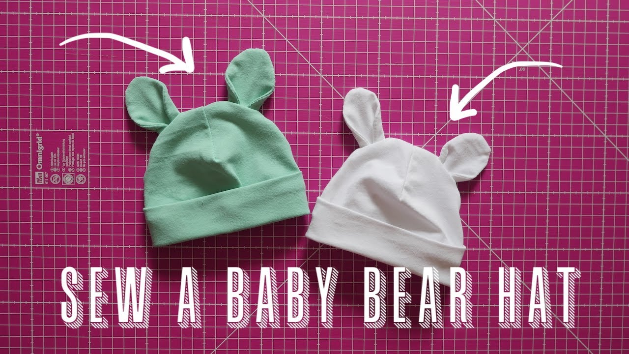 How to Sew a Jersey Baby Bear Hat | Scrap Busting Projects