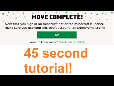 How To Migrate Your Mojang/Minecraft Account in 45 seconds!