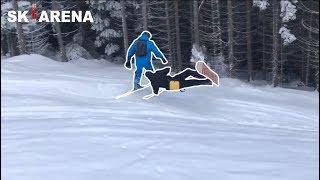 SNOWBOARDERS vs SKIERS #4 fights, crashes and angry people