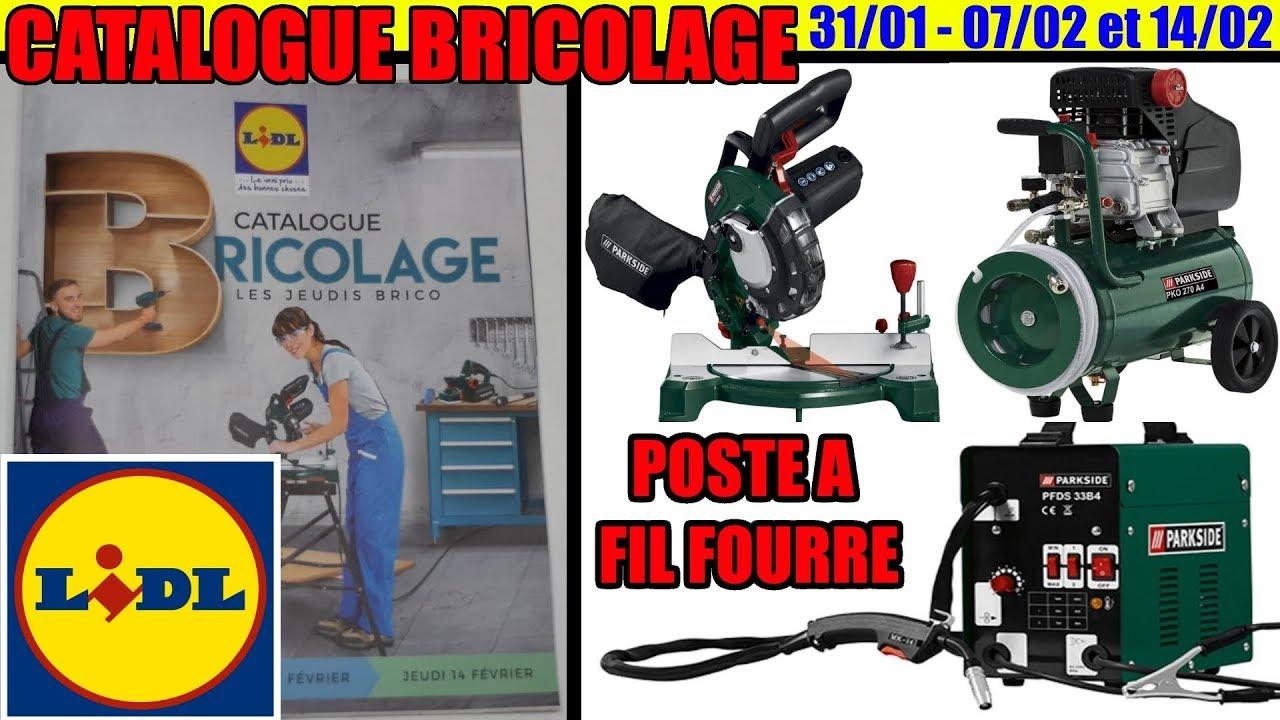 catalogue lidl bricolage fevrier 2019 poste a souder a fil fourre parkside compresseur scie a onglet