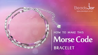 How to make this Morse Code bracelet | Simple Bracelet tutorial