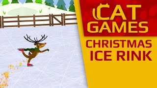 CAT GAMES - Christmas Ice Rink! (Videos for Cats to watch) 1 Hour 4K