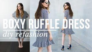 DIY Boxy Ruffle Dress Refashion
