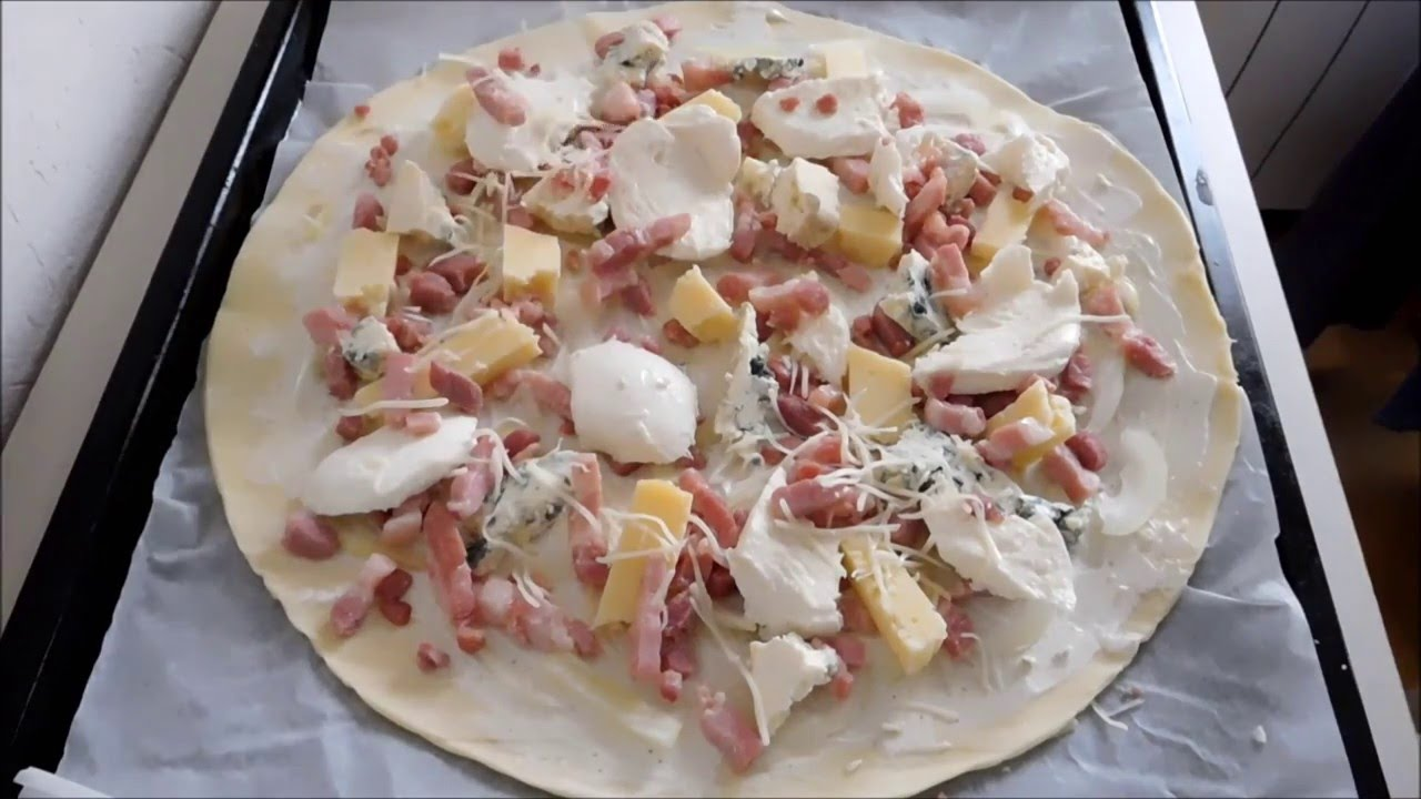 Receta de pizza en frances