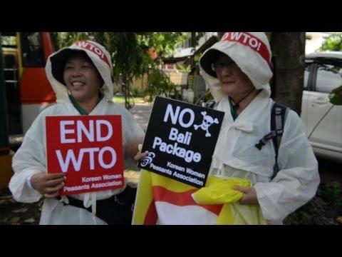 Bali: manifestation en marge de la conférence de l'OMC