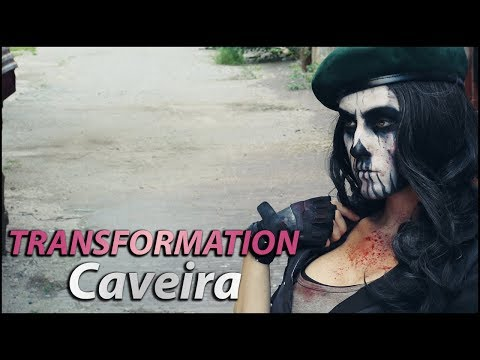 Caveira Cosplay Transformation! [Rainbow Six Siege]