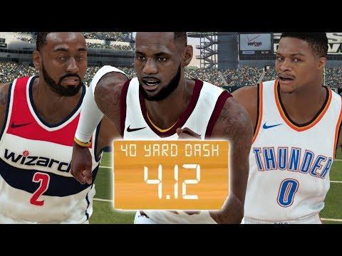 What NBA Player Runs The Fastest 40 Yard Dash Time? NBA 2K18 Challenge