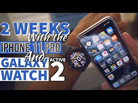 Galaxy Watch Active 2 Paired With An IPhone