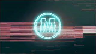 Neon Glitch Logo Free Download