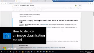How to deploy an image classification model using Azure services