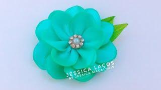 DIY – PAP Flor de cetim facil – satin flower Easy