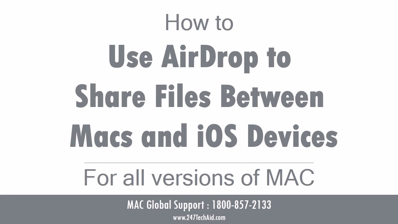 How To Use Airdrop To Share Files Between Macs And Ios Devices