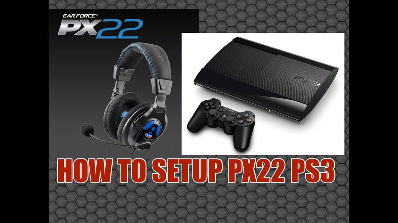 8232e6cced3 HOW TO SETUP/CONNECT turtle beach PX22 TO PS3 - YouTube
