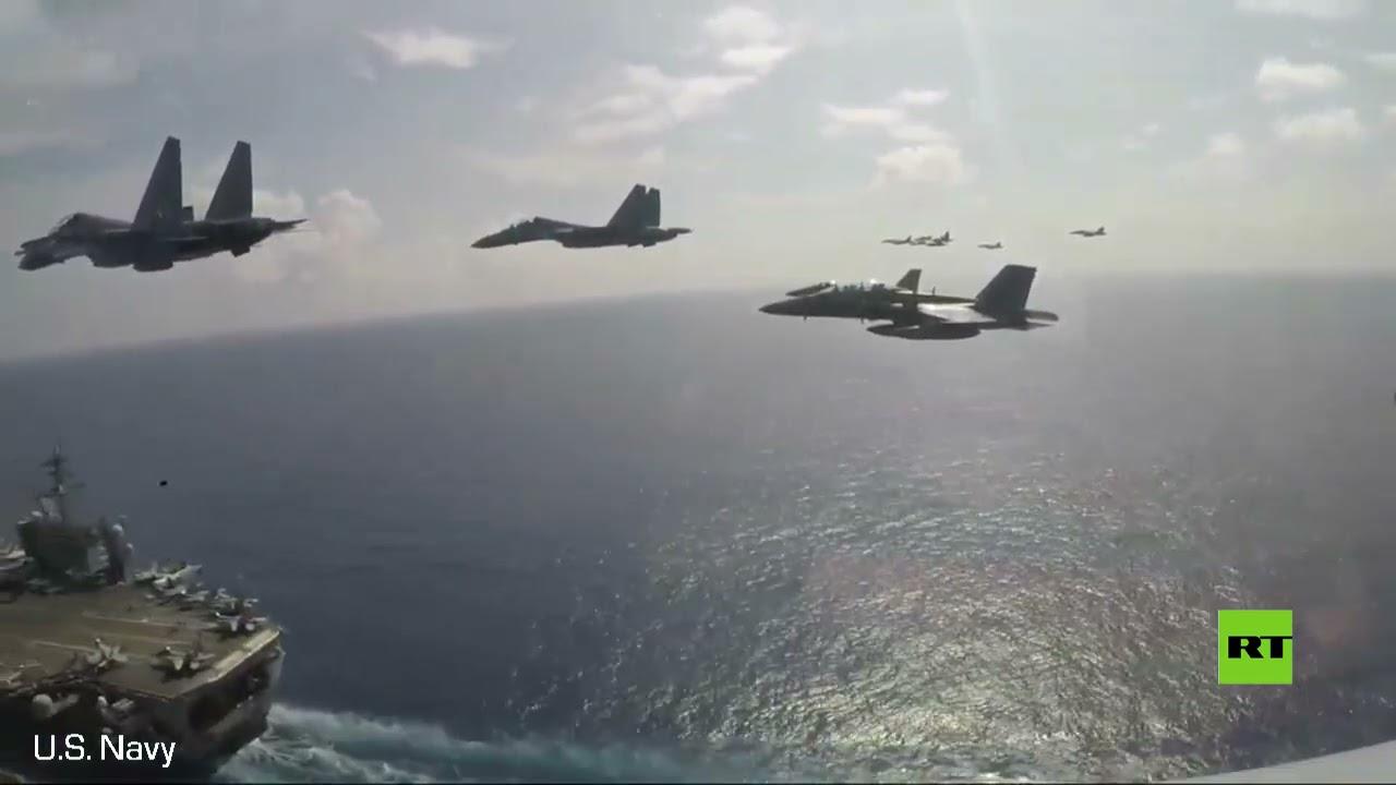 مقاتلات -سو-30- تحلق فوق حاملة الطائرات الأمريكية  - نشر قبل 3 ساعة