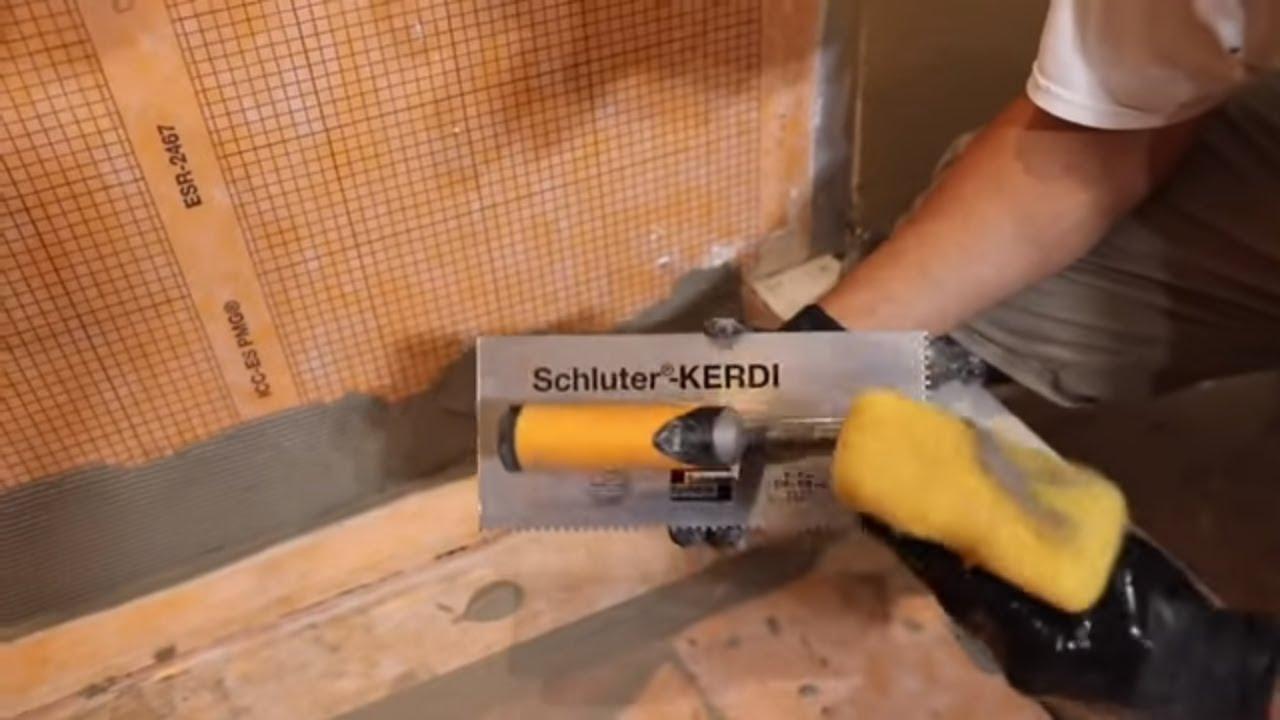 How To Install Kerdi Line Drain Kerdi Coach Episode 1 Youtube