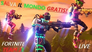 🔴 FORTNITE SERVER PRIVATI AND SAVE THE FREE WORLD?! | Team J1 and Auditions [Road to 6K]